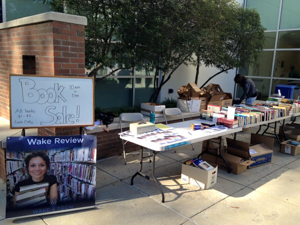 One of the book sale fund raisers hosted by the Wake Review.